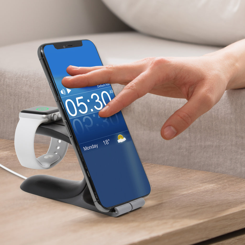 Aduro 2 in 1 Desktop Charging Stand for iPhone and Apple Watch