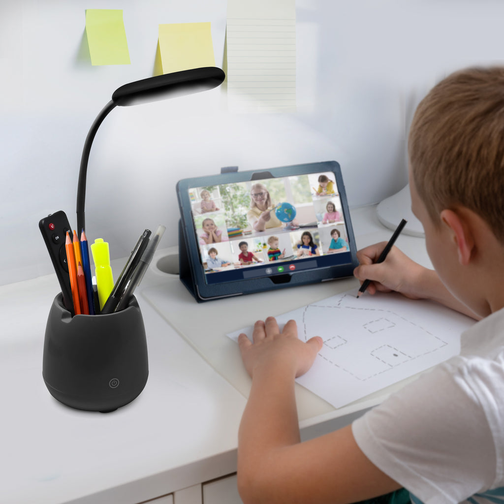 Aduro U-Light Groove Desktop Lamp Organizer & Wireless Speaker