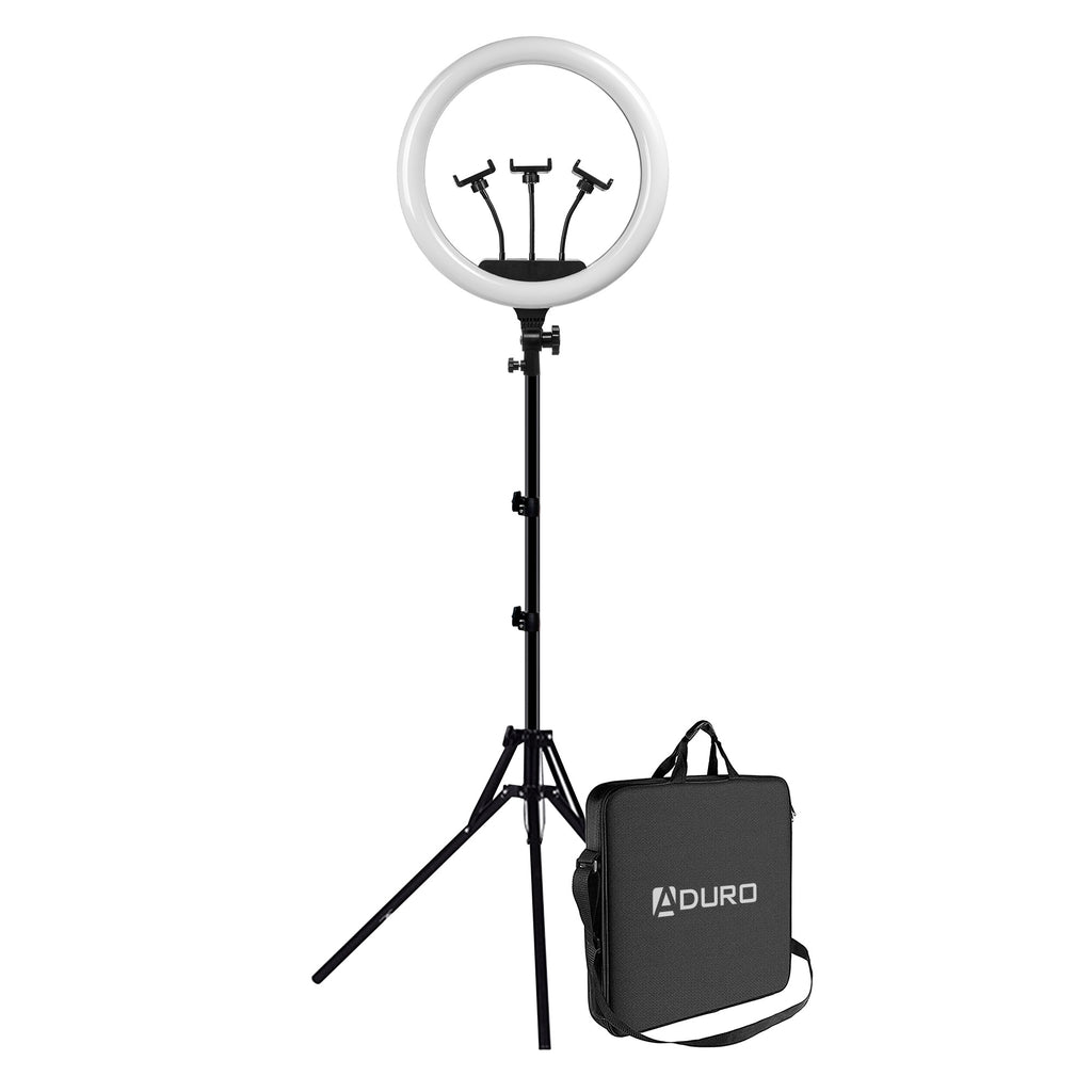 "Aduro U-Stream Executive Home Streaming Studio Kit with 18"" Ring Light & Tripod"