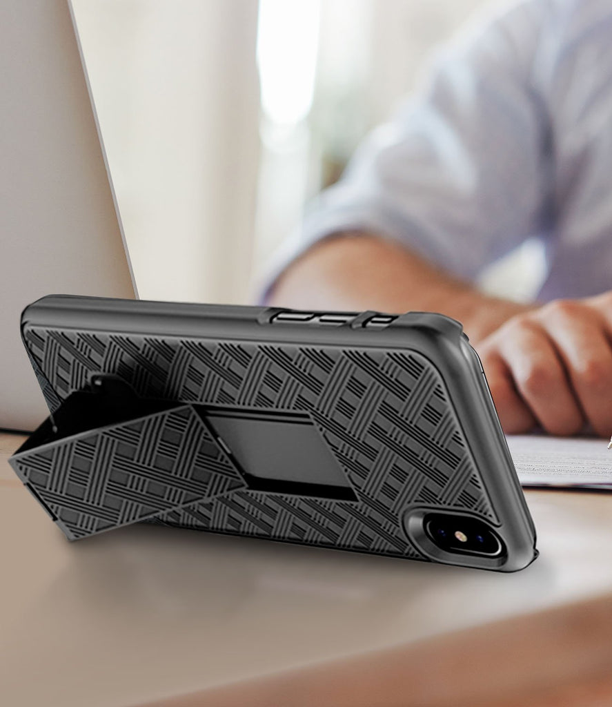 SHELL & HOLSTER COMBO CASE: APPLE IPHONE X/XS