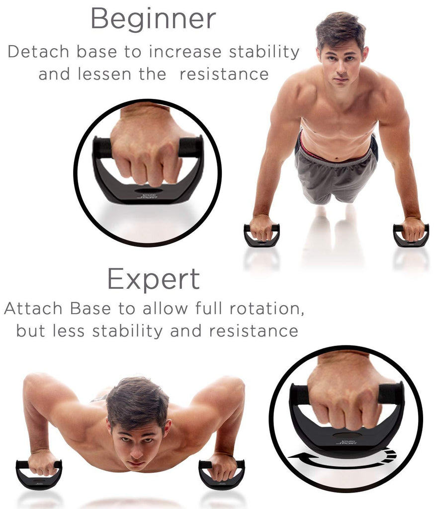 Aduro Sport Push Up Bars, Twisting Ball Shaped Stands Perfect Pushups