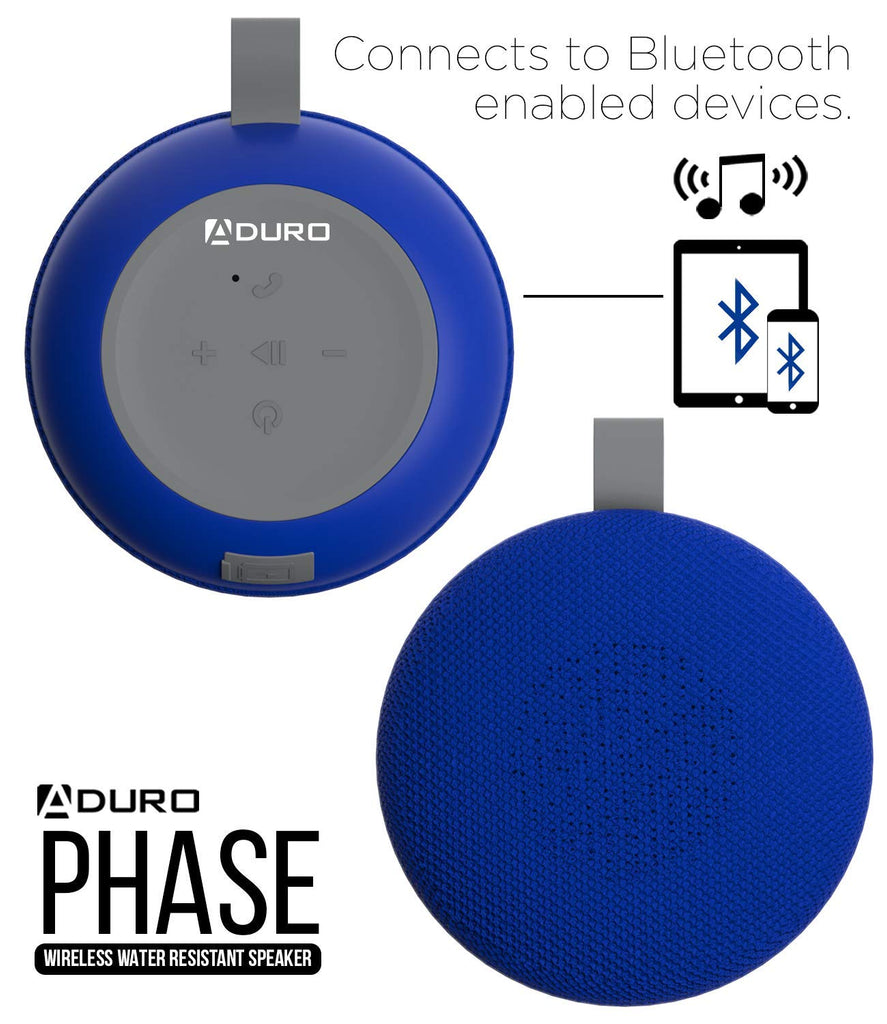 Phase Wireless Portable Bluetooth Speaker, Water Resistant Small Outdoor Speaker