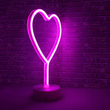 Hearth & Haven Heart Decorative Fluorescent Light Neon Signs Wall Decor Battery Operated