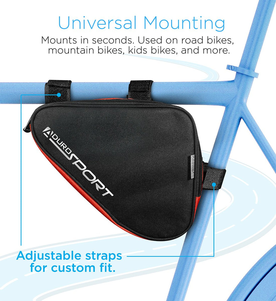 Aduro Sport Triangle Saddle Bicycle Storage Bag