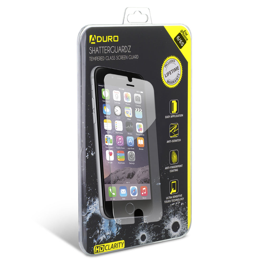 SHATTERGUARDZ Tempered Glass Screen Protector: iPhone 6