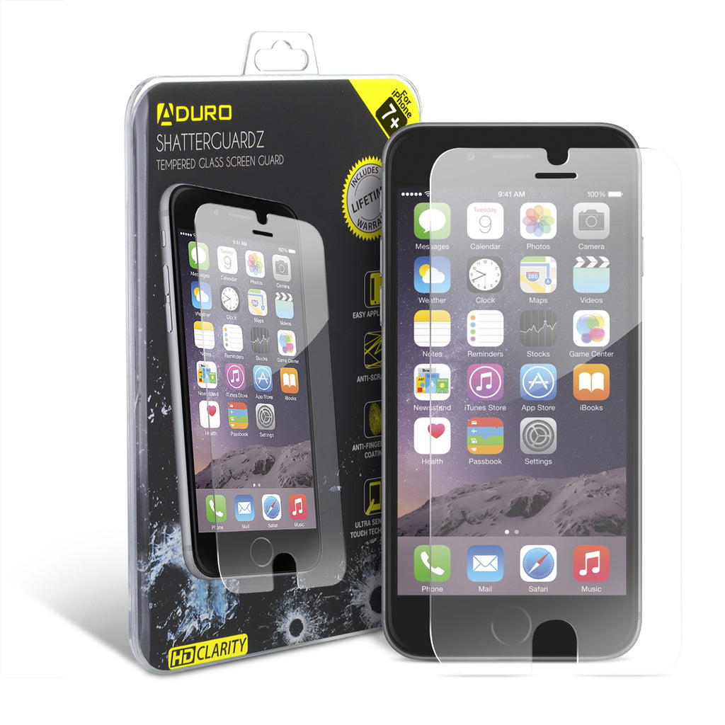 SHATTERGUARDZ Tempered Glass Screen Protector: iPhone 7 Plus