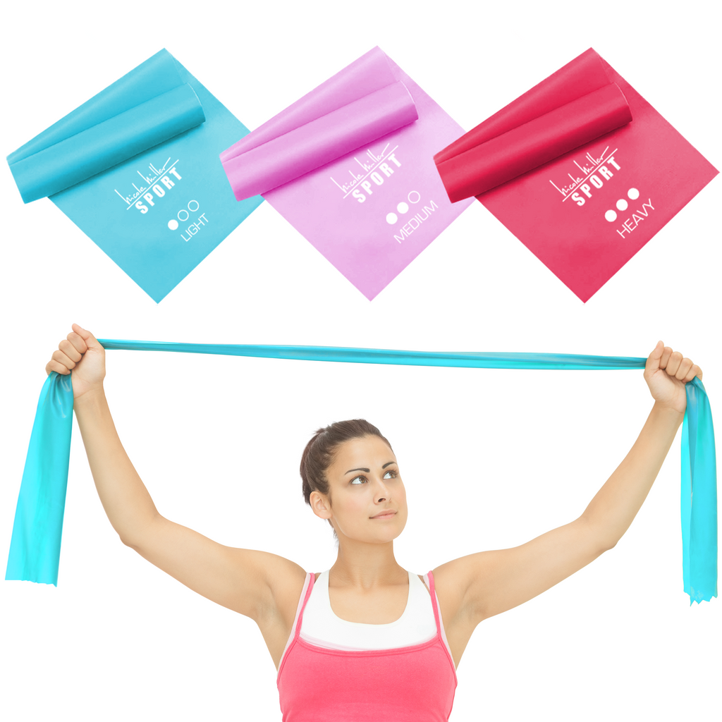 Nicole Miller Sport Flat Stretch Bands