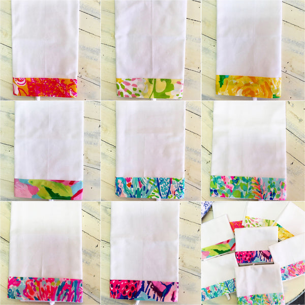 Lilly Pulitzer Inspired Kitchen Towel
