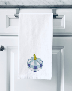 Organic Flour Sack Towels - Blue Pumpkin