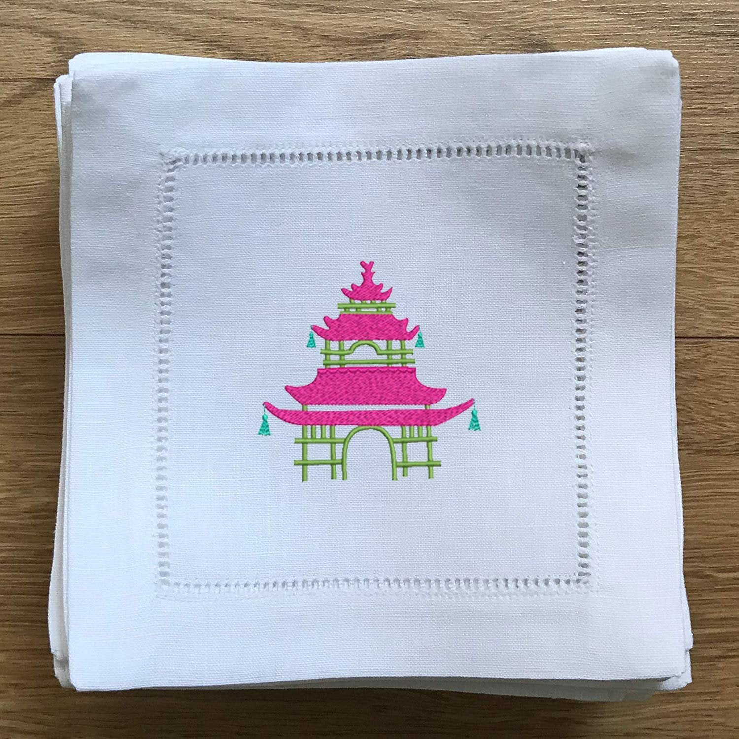 Chinoiserie Cocktail Napkin - Pagoda - Happiest Shop Ever