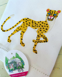 Chinoiserie Leopard Guest Towel - Happiest Shop Ever