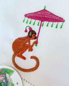 Chinoiserie Monkey Guest Towel - Happiest Shop Ever