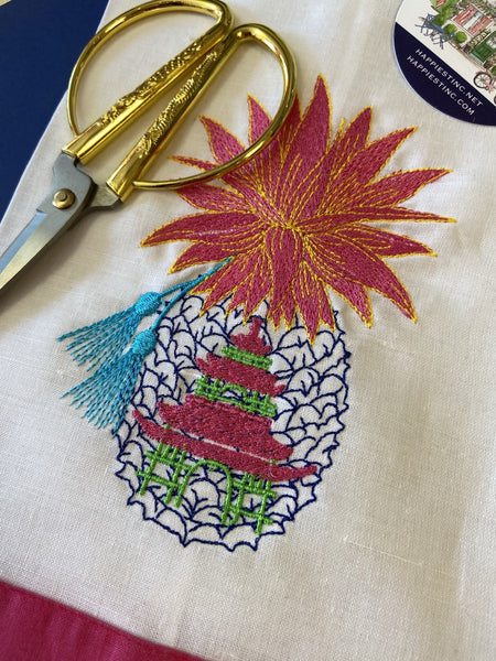 Chinoiserie Pineapple Guest Towel - Happiest Shop Ever