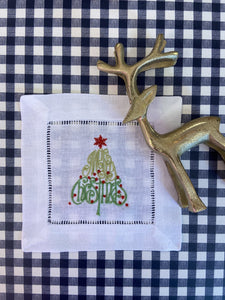 Christmas Special: Cocktail Napkins with Merry Christmas Tree - Happiest Inc.