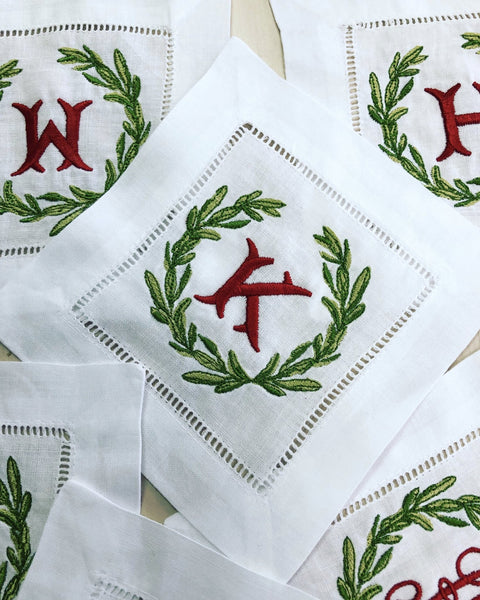 Christmas Special: Cocktail Napkins with Nutcracker Monogram - Happiest Inc.
