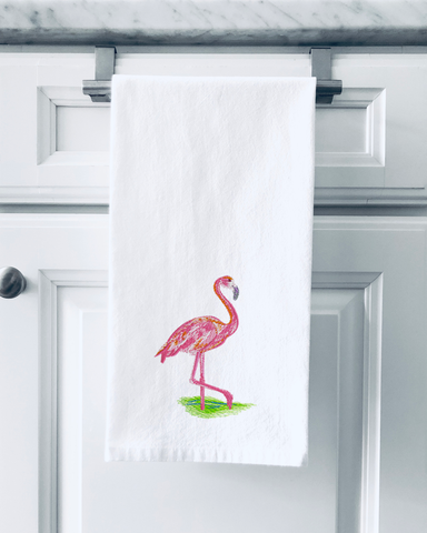 Organic Flour Sack Towels - Flamingo