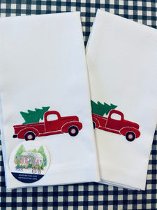 Christmas Special: Guest Towel - Vintage Christmas Truck - Happiest Inc.