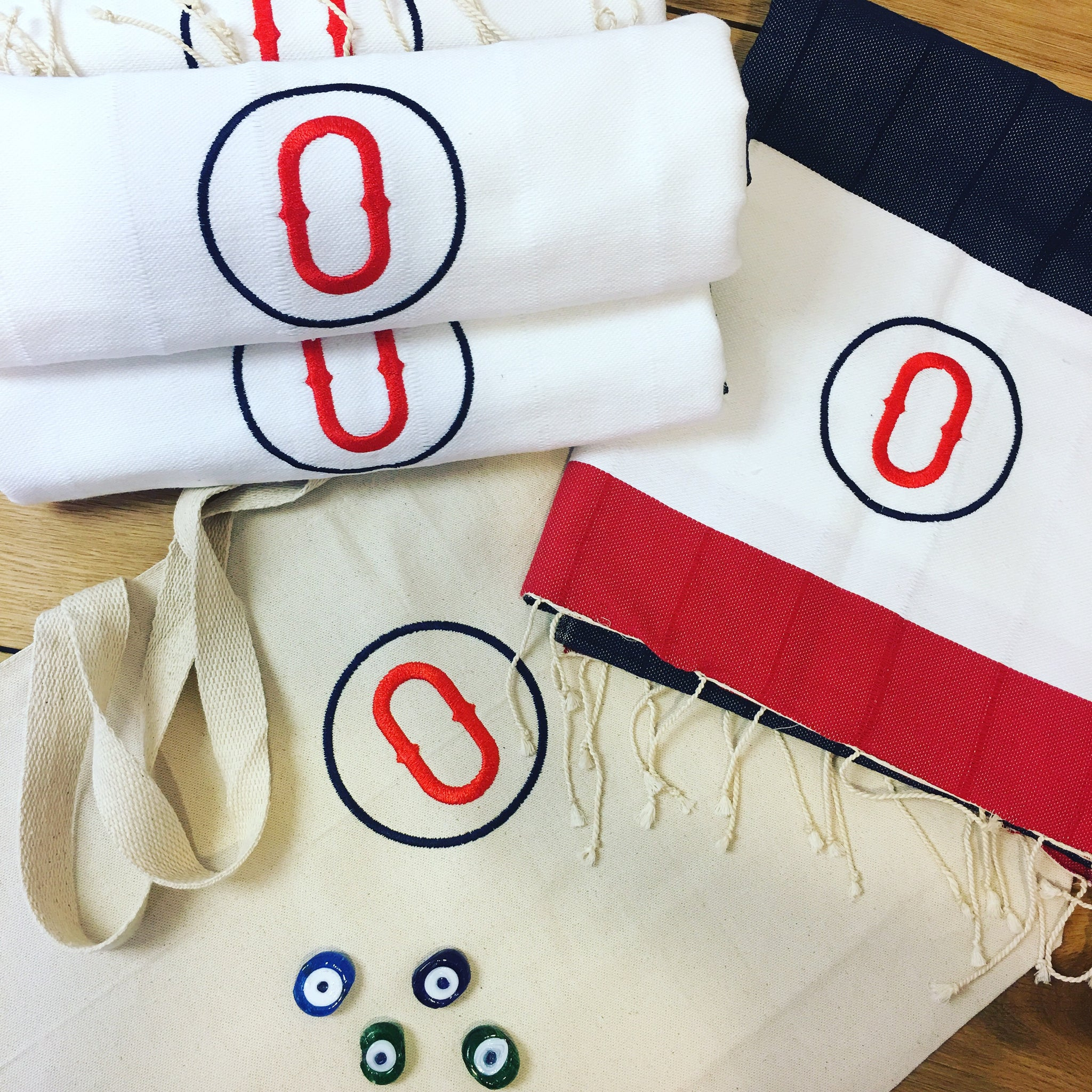 Monogrammed Pure Cotton & Hand-Loomed Signature Turkish Towel - Nautical Limited Edition