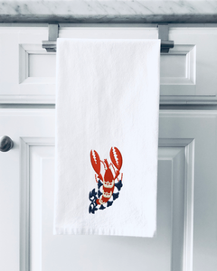 Organic Flour Sack Towels - Lobster