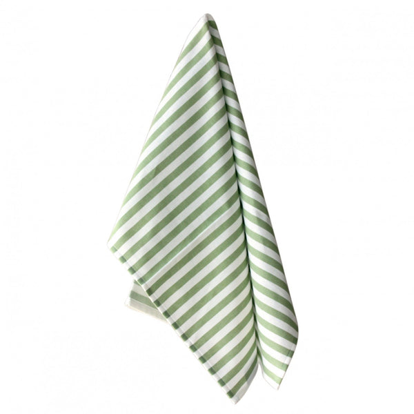 Monogrammed Striped Kitchen Towels (Green & White) (Set of 3) - Happiest Shop Ever