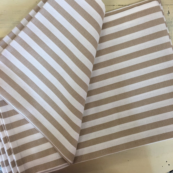 Monogrammed Striped Kitchen Towels (Taupe & White) (Set of 3) - Happiest Shop Ever