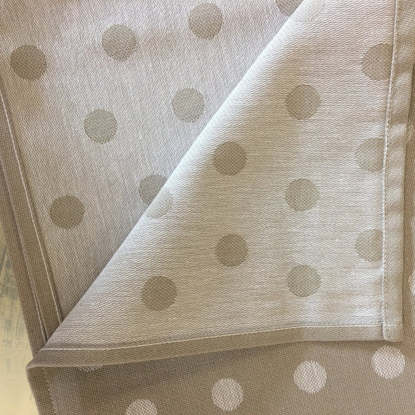 Monogrammed Taupe Polka Dots Kitchen Towels (Set of 3) - Happiest Shop Ever