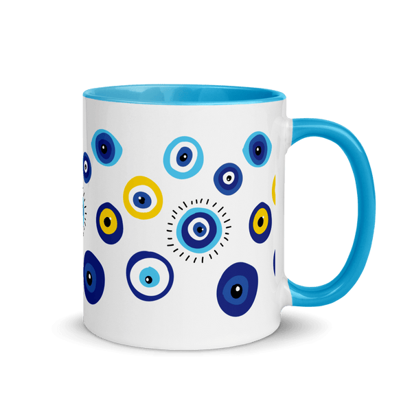Negative Vibes Protection Mugs with Beautiful Evil Eyes (3 Colors) - Happiest Shop Ever