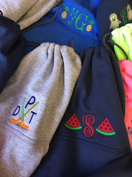 Personalized Sweatshirt Cinch Pack for Kids (8 Colors) - Happiest Shop Ever