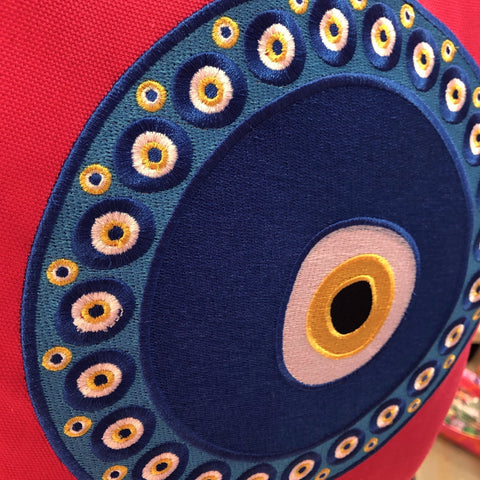 Pillow Cover with a Signature Oversized Evil Eye Design (9 Colors) - Happiest Shop Ever