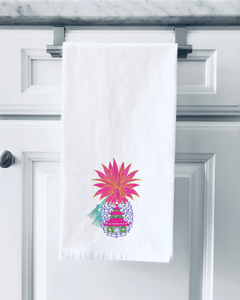 Organic Flour Sack Towels - Pineapple Pagoda