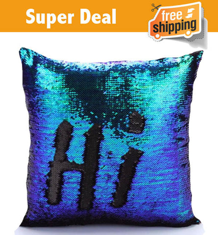 Magic Mermaid Sequin Pillow - Limited time offer
