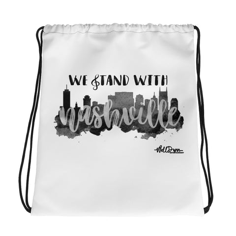 Stand With Nashville Drawstring bag