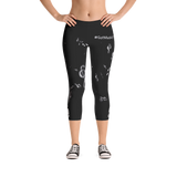 "WellDunn ""Swaggy"" Black Capri Leggings"