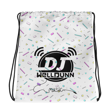 Dj WellDunn Confetti Drawstring Bag