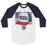 """'MERICA"" 3/4 sleeve baseball shirt(July 4th Edition)"