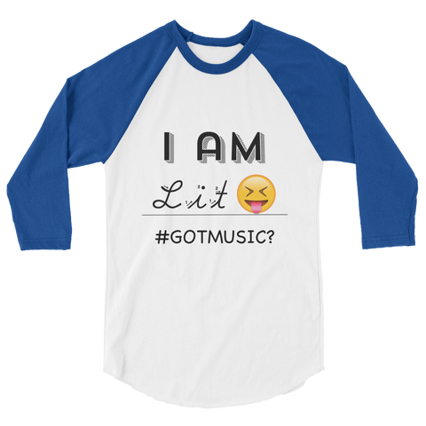 """I Am-Lit"" 3/4 sleeve raglan shirt"