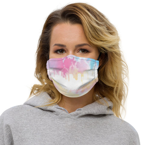Tie Dye Skyline Face Mask