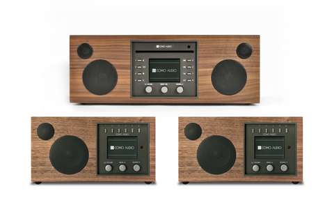 Three Room Music System / Walnut