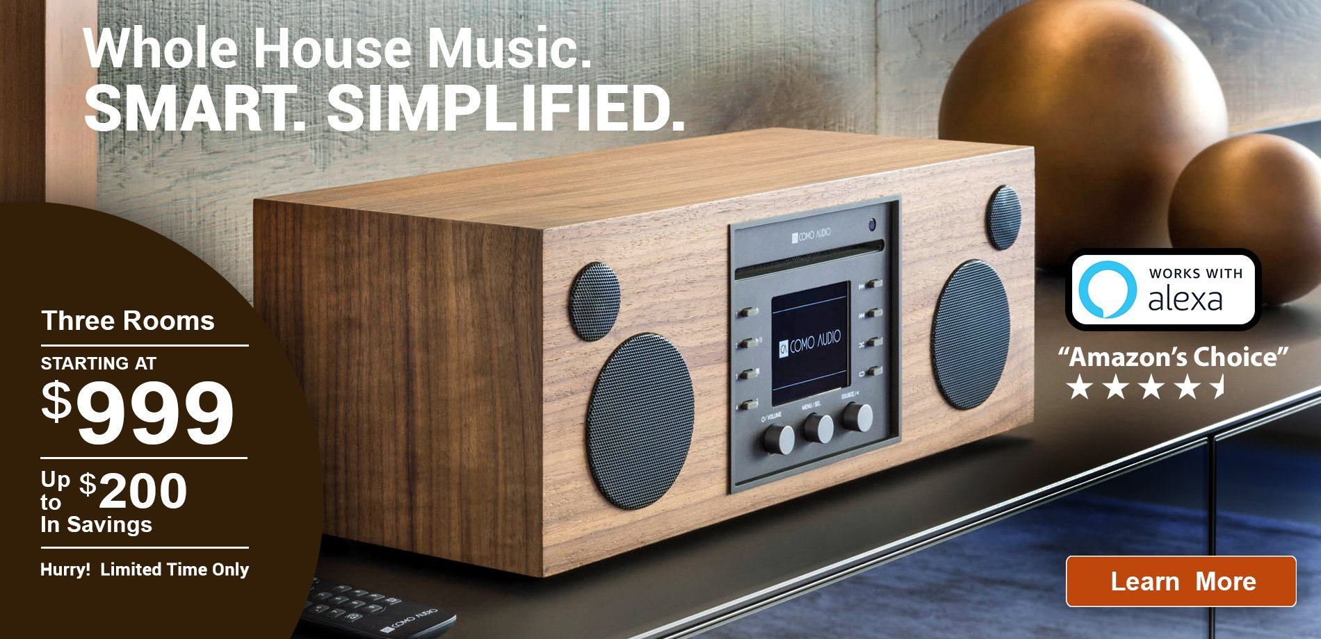 Whole House Music. Smart. Simplified.