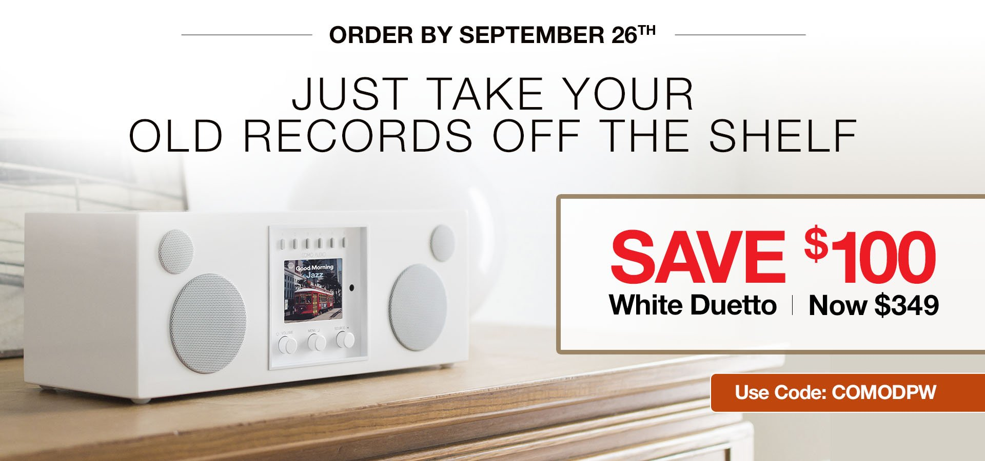 $100 Off Piano White Duetto