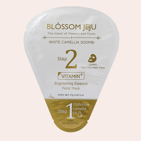 Blossom Jeju - 2 Step Vitamin Brightening Essence Sheet Mask - Korean Skin Care From Take Good Care