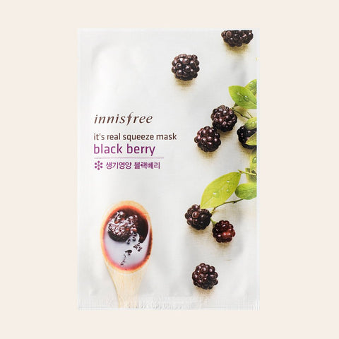 Innisfree - It's Real Squeeze Sheet Mask - Blackberry - Korean Skin Care From Take Good Care