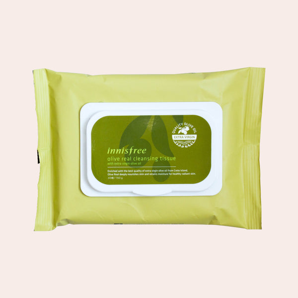 Innisfree - Olive Real Cleansing Tissues - Korean Skin Care From Take Good Care