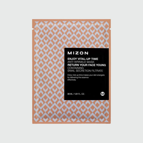Mizon - Enjoy Vital-Up Time Anti-Wrinkle Sheet Mask - Korean Skin Care From Take Good Care