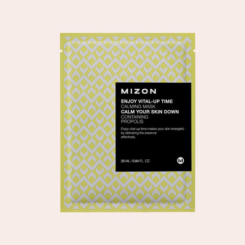 Mizon - Enjoy Vital-Up Time Calming Sheet Mask - Korean Skin Care From Take Good Care