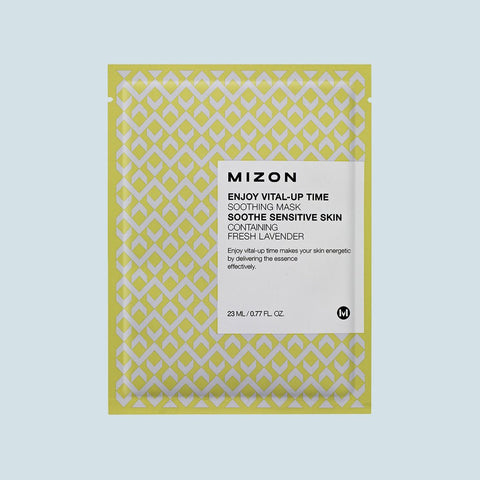 Mizon - Enjoy Vital-Up Time Soothing Sheet Mask - Korean Skin Care From Take Good Care