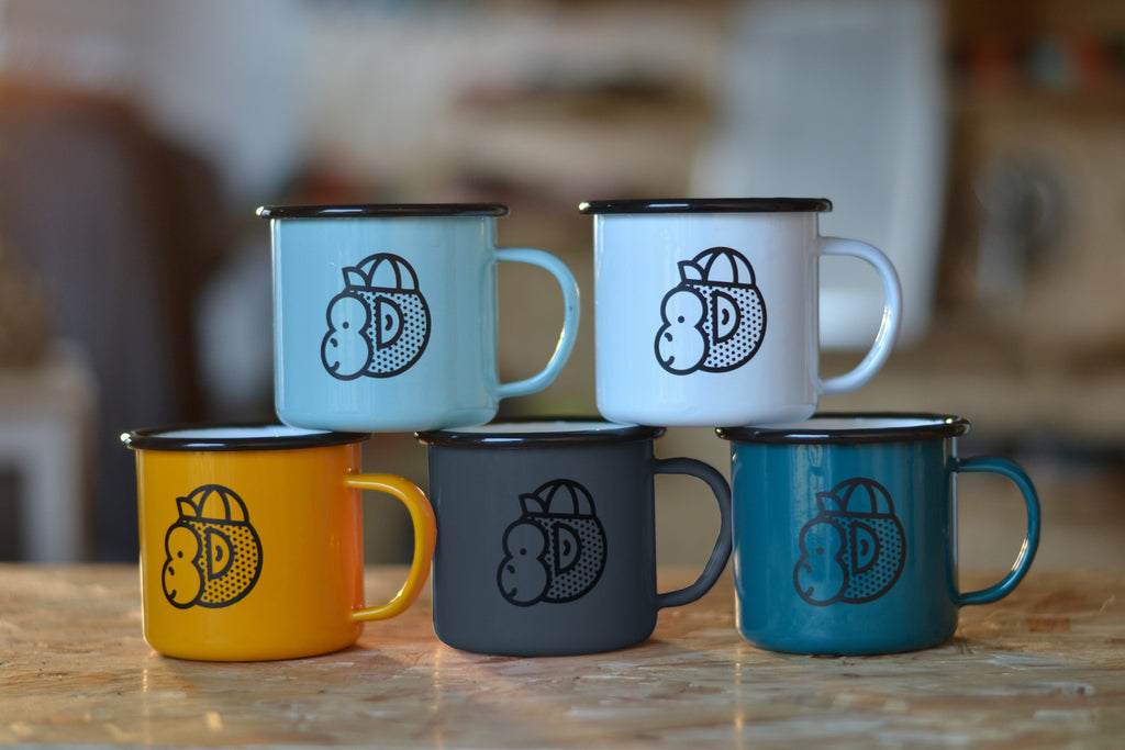 Victory Chimp Enamel Mug Bundle