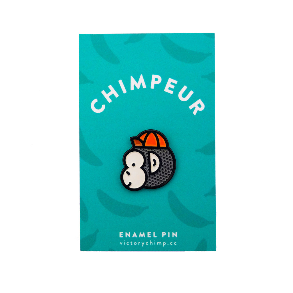 Chimpeur Enamel Pin - Victory Chimp