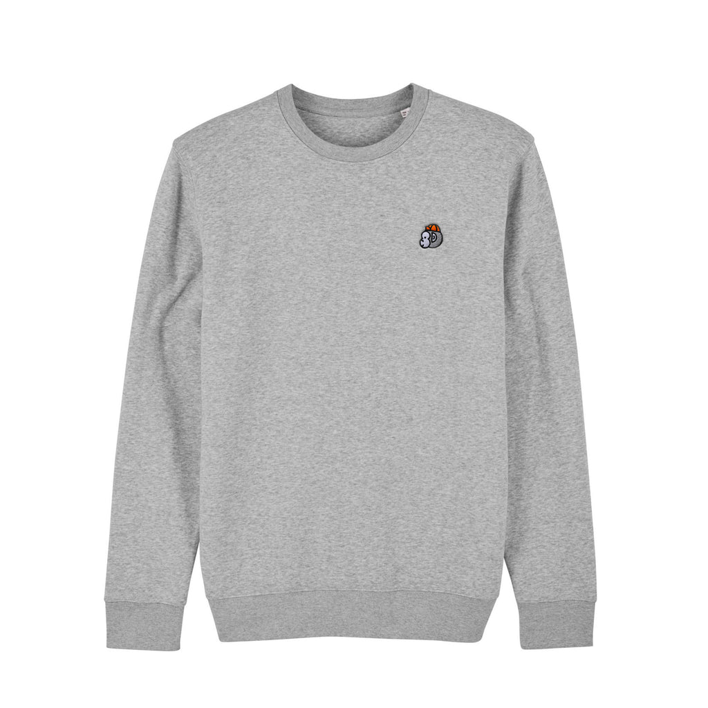 Chimpeur Unisex Organic Cotton Sweatshirt (Heather Grey)