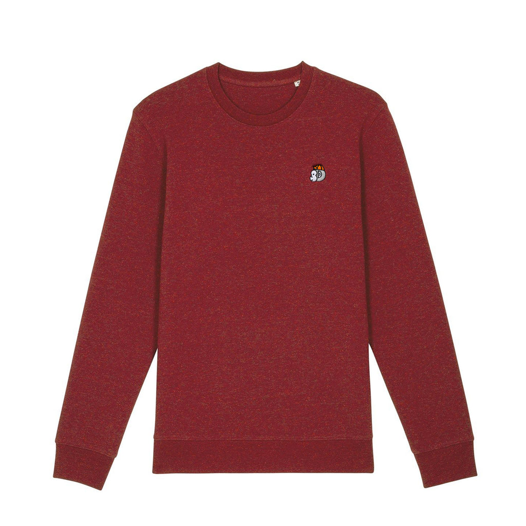 Chimpeur Unisex Organic Cotton Sweatshirt (Heather Nappy Burgundy)